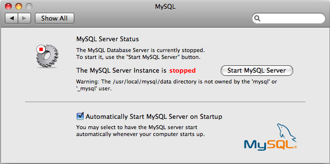 Fixing the startup and PrefPane bugs with MySQL on Mac OS X